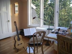 guitar practice room